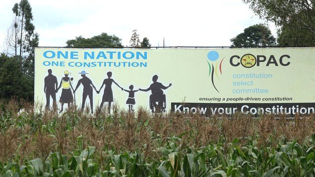 Billboard advertising the Constitution of Zimbabwe