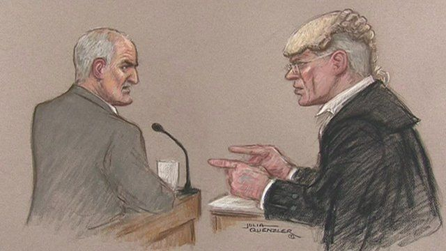 Mick Philpott being questioned by Richard Latham QC