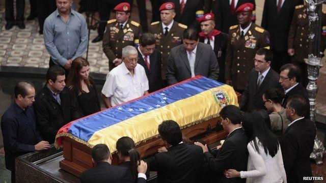 Coffin of Hugo Chavez