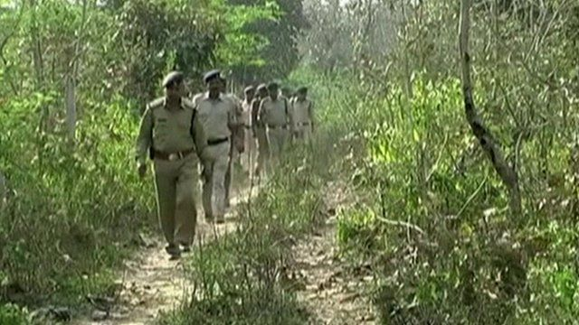 Police search in Indian countryside