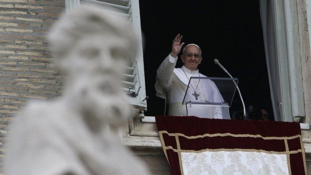 Pope Francis at window