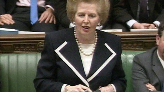 Margaret Thatcher in Commons