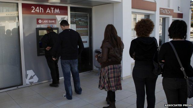 ATM machine outside Bank in Larnaca, Cyprus