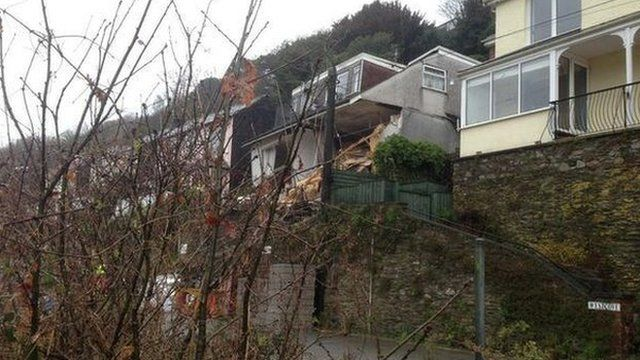 Veronica Flats collapse, Looe, March 2013