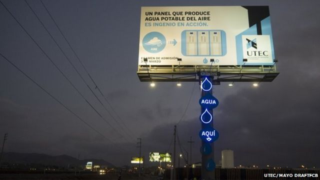 Advert turns air into drinking water