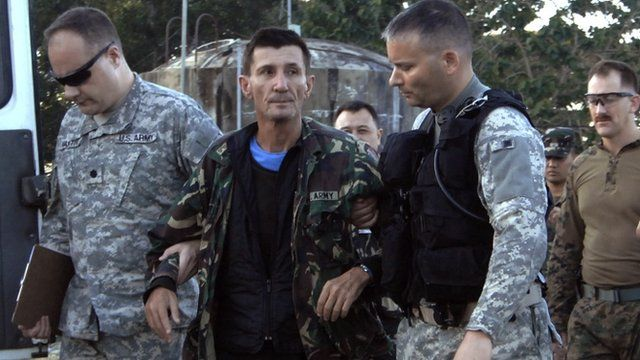 Australian hostage Warren Richard Rodwell arrives at the Armed Forces of the Philippines Western Mindanao Command after his release