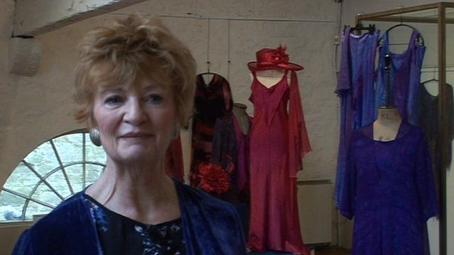 Fashion designer Denise Stracey