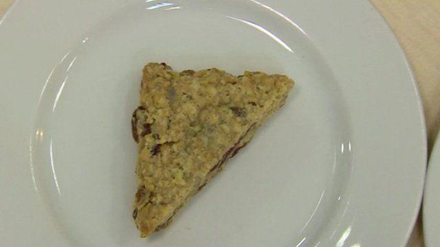 A triangular flapjack