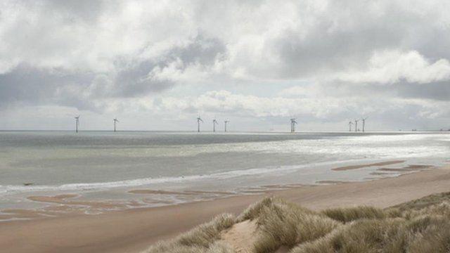Artist's impression of the wind farm