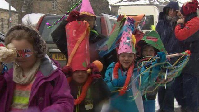 Children from St John's Chapel Primary