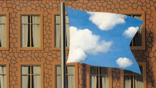 A detail from Rene Magritte's Summer, on exhibition at the Leopold Museum