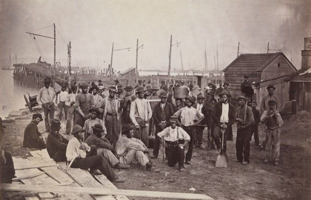 Labourers at Quartermaster's Wharf