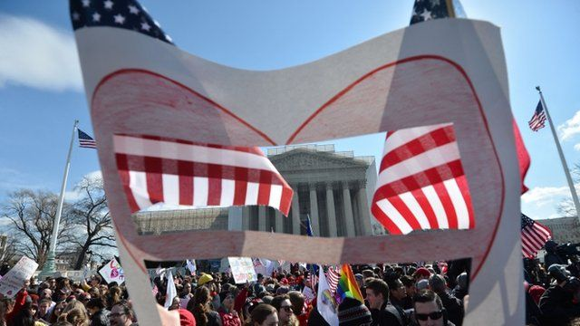 Gay marriage demonstration