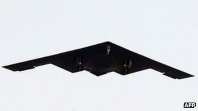 US B-2 stealth bombers in South Korea drill