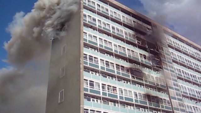 Fire at Lakanal House in Camberwell in July 2009
