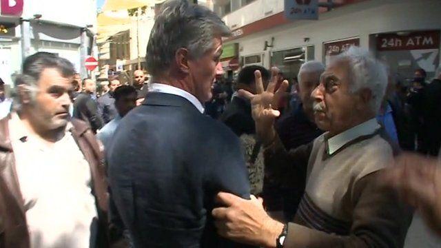 Man grabs correspondent Tim Willcox