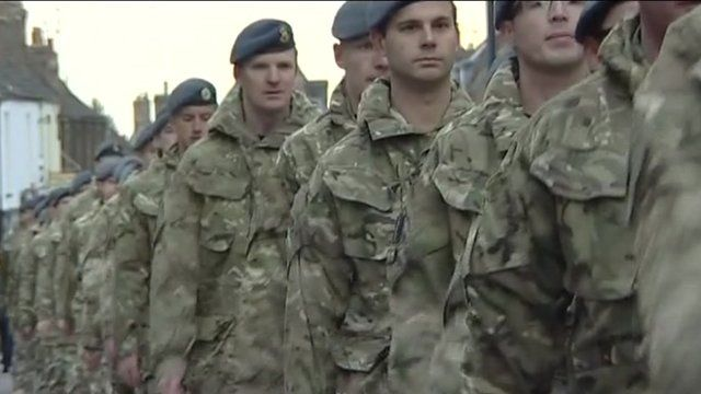 Members of 9 Squadron in Downham Market