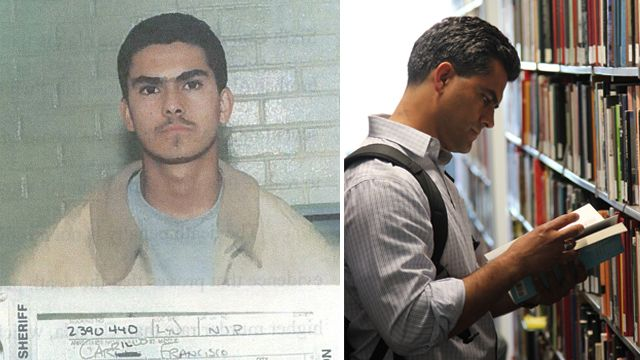 Franky Carrillo mug shot and current day photograph montage
