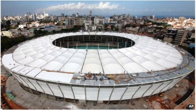 Police uses tear gas in row at Brazil World Cup stadium