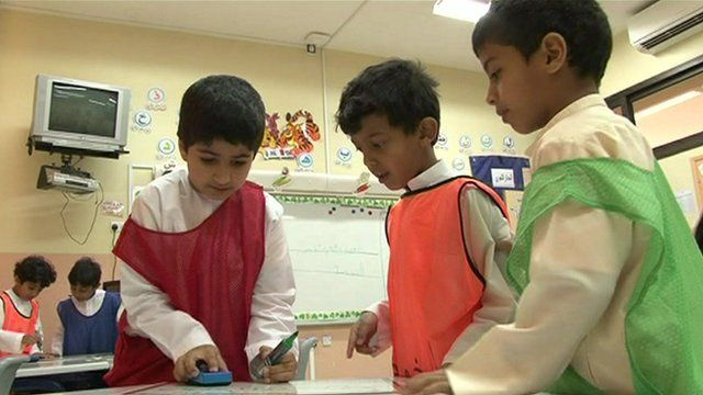 Primary school children in Abu Dhabi