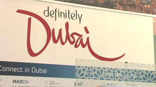 Poster advertising Dubai