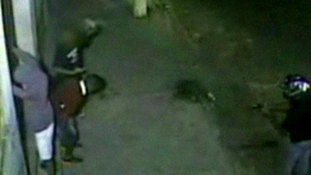 CCTV image taken moments before the shooting