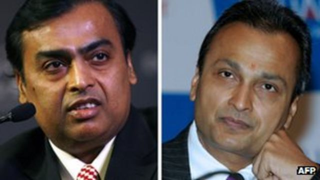 India's Ambani brothers sign deal on telecoms