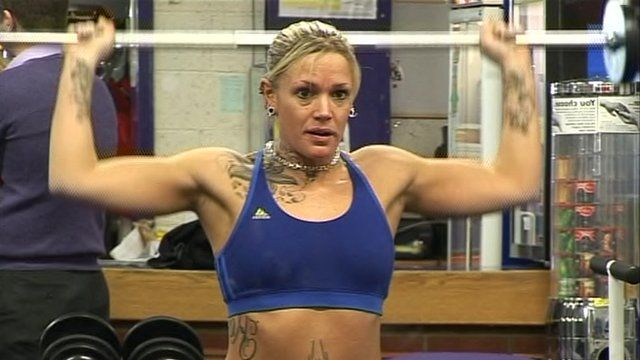 Woman in gym at Brackmills in Northampton