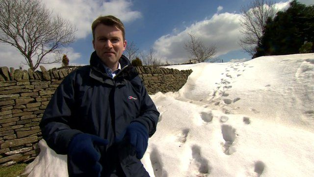 The BBC's Ed Thomas in the Pennines