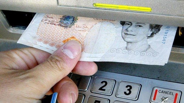 Person at cash point