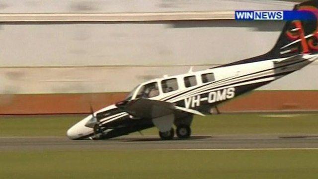 Pilot's lucky nose dive landing