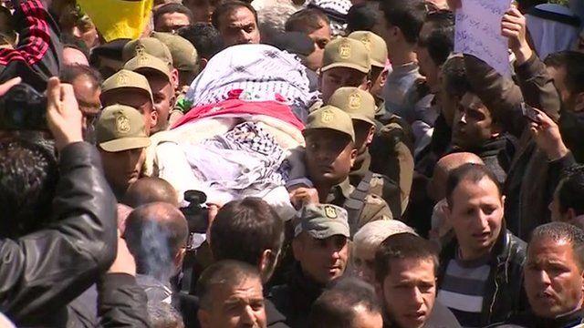 The body of Maysara Abu Hamdiyeh