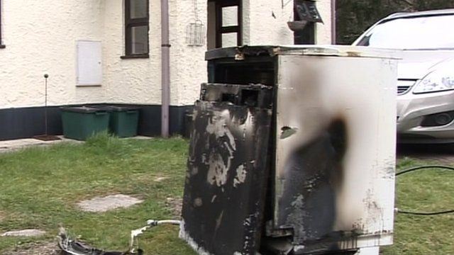 The Bosch dishwasher which caught fire