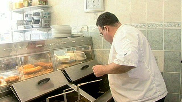 Chip shop owner John Moore