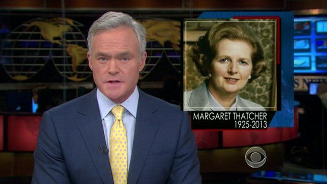 Newsreader announces Thatcher death