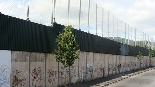 Peace wall in Northern Ireland