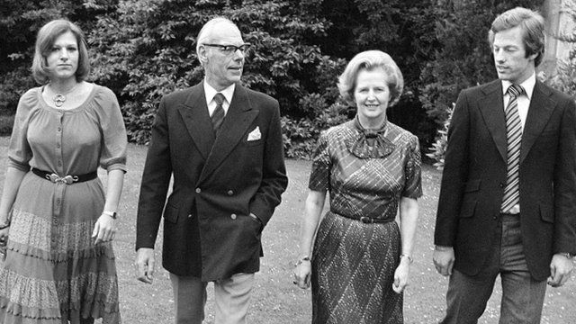 The Thatcher family pictured in 1979