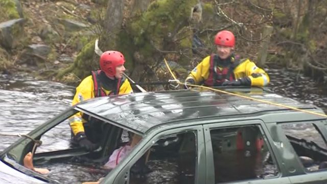 Rescue teams during the training exercise