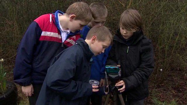 Children taking part in an outdoor lesson