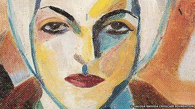 Saloua Raouda Choucair self portrait h(b.1916)
