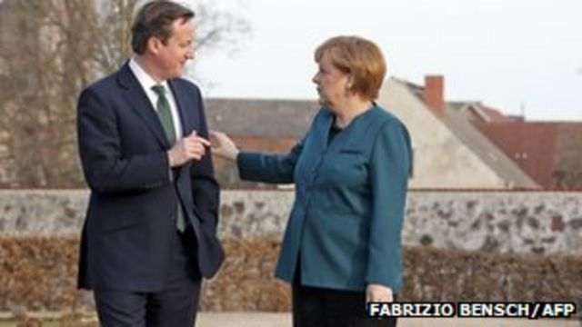Cameron and Merkel 'agree to work together' on EU