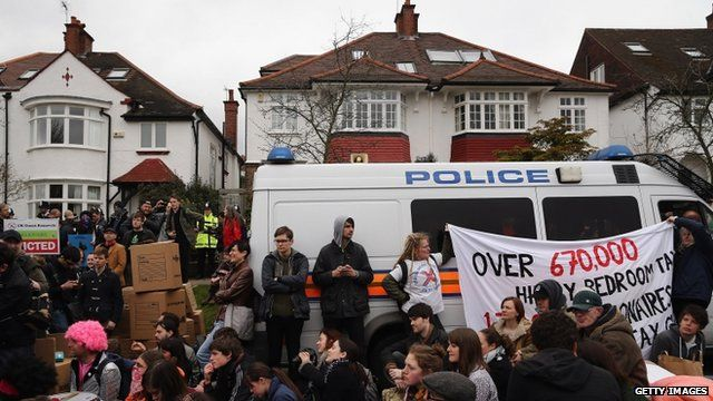 Protesters in Highgate
