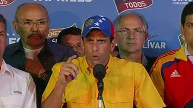 Opposition candidate Henrique Capriles