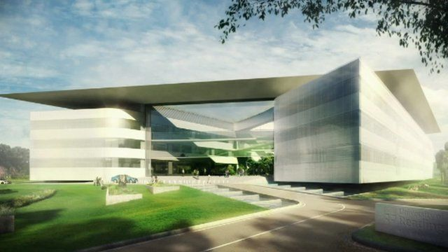 An artist's impression of University of Reading's EduCity campus