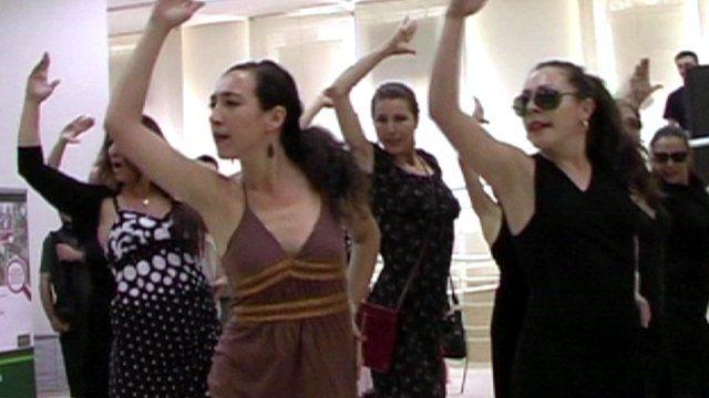Flamenco flashmob group
