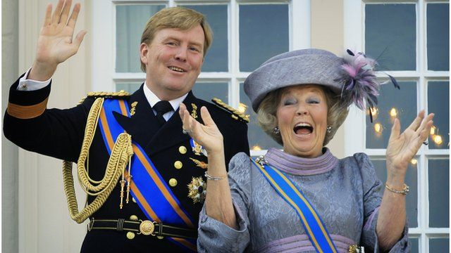 Dutch Crown Prince Willem-Alexander and Dutch Queen Beatrix
