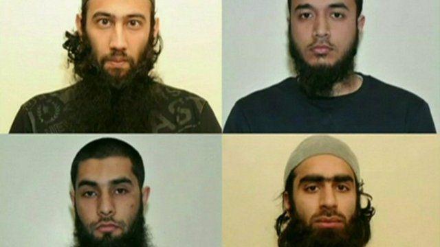 Top l-r: Zahid Iqbal, Mohammed Sharfaraz Ahmed, bottom l-r Umar Arshad and Syed Farhan Hussain