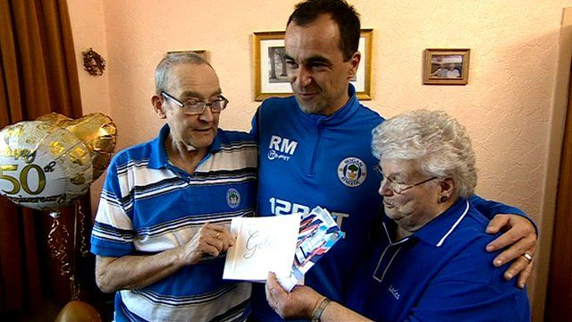 Roberto Martinez with Alan and Rita Winstanley
