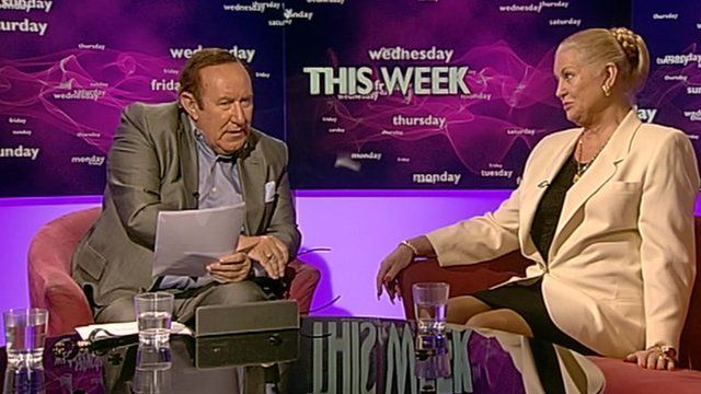 Andrew Neil and Kim Woodburn