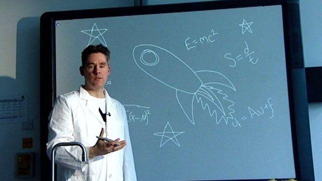Dan Hodges in science lab